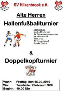 Hallenfußballturnier Alte Herren, Vereins & G-Junioren 2019