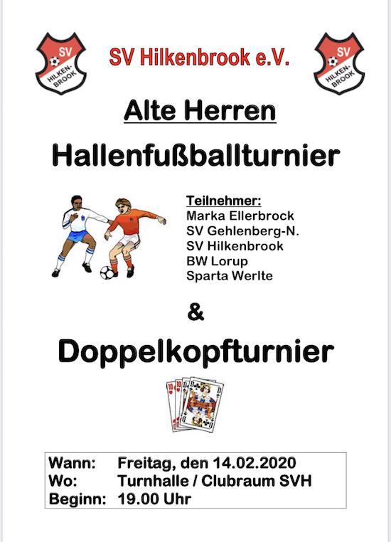 Hallenfußballturnier Alte Herren, F-Junioren, Internes & G-Juinoren