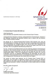 Read more about the article 31. Emsland-Sport-Tombola fällt 2020 aus