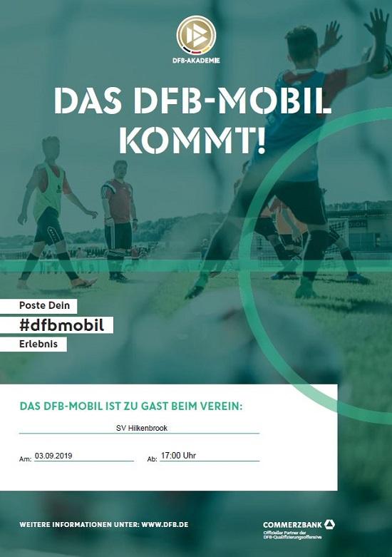 DFB-Mobil kommt am Dienstag, 03.09.2019 zu uns