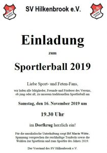Read more about the article Einladung zum Sportlerball 2019