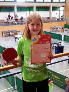 Read more about the article Mia Hanekamp erreichte den 9. Platz bei den TT-Landes-Mini-Meisterschaften