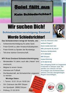 NFV Kreis Emsland Schiedsrichterlehrgang in Dörpen